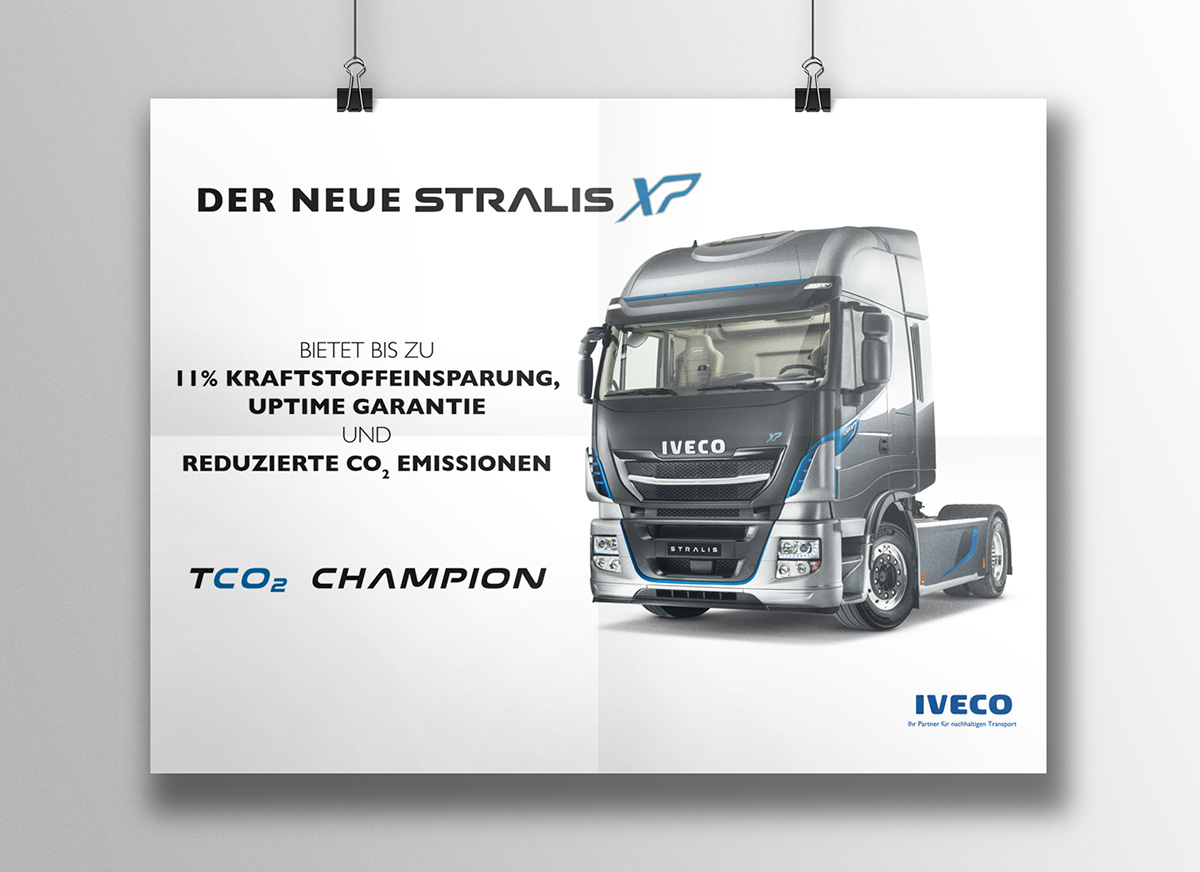 layout iveco werbung stralis